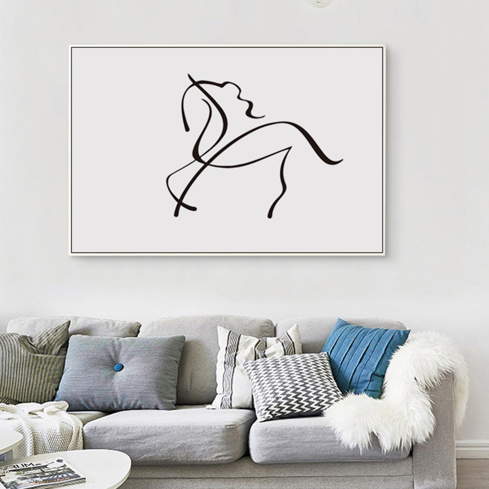 Buy nordic modern minimalist black white for Minimalist wall decor