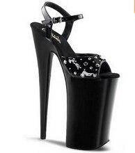 Sommer neue ankunft 2016 sexy frauen schuhe 20 cm schuhe mit hohen absätzen 8 zoll dünne heels sandalen mode niet schuhe