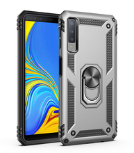 TPU+PC 360° Rotating Sergeant Shatter Resistant Bracket Armor Case For Samsung Galaxy A7 2018 Scratch