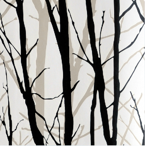 White And Black 3d Tree Art Wall Paper Background Decor