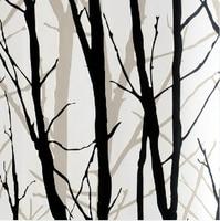 White and Black 3D Tree Art Wall Paper Background Decor Wallpaper Roll Vinyl