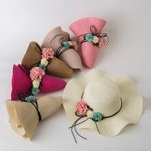 Летняя Детская Цветочная дышащая шляпа модные соломенные Солнцезащитная бейсболка Fille Дети Девочки Шляпы Czapka Wiosna Dla Dzieci Кепка дети