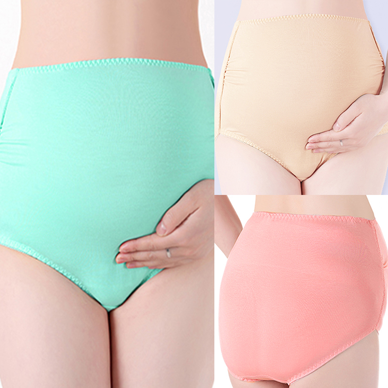 New Arrival 2018 Women High Waist Lingerie Casual Solid Comfortable Underwear Panties Female Soft Intimates Plus Size 3 Colors