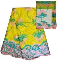 2017 dernière bazin riche Broderie dentelle Africaine Bazin Riche dentelle tissu pour robe suisse dentelle tissu! SLBL1-22