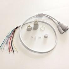 CCTV IP POE ağ WiFi HD kamera PCB modülü video güç hava koşullarına dayanıklı POE kablo RJ45 kadın ve DC erkek beyaz