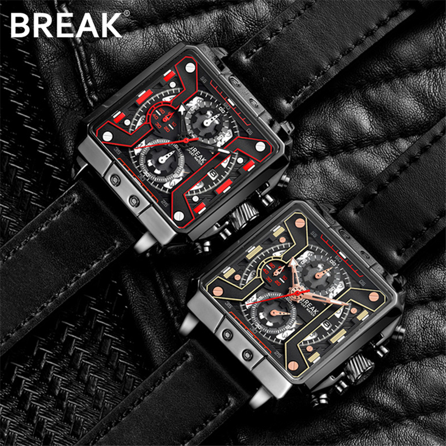Fashion Vintage Square Chronograph Sport Mens Watches Top Brand Luxury Waterproof Military Quartz Watch Clock erkek kol saati все цены