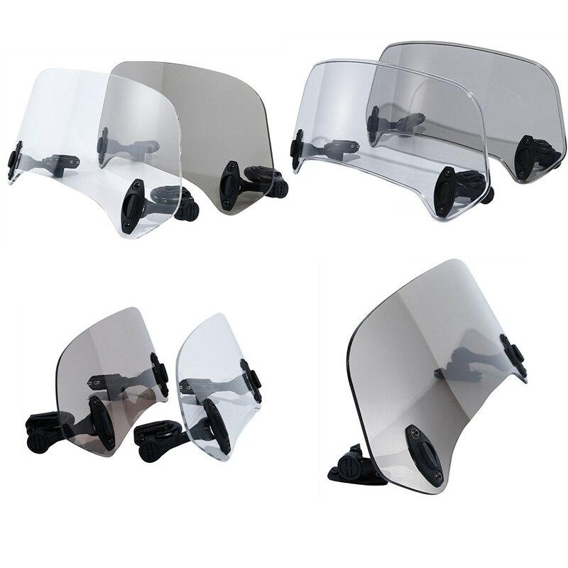 Motorcycle Adjustable Risen Windshield Extension Spoiler Wind Deflector Protection For Harley Kawasaki Honda Suzuki Yamaha BMW