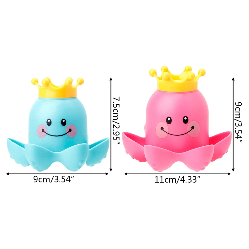 3Pcs Octopus Shape Cup Bath Toy Soft Stacking Baby Toys Kids Toy Play Water Pool