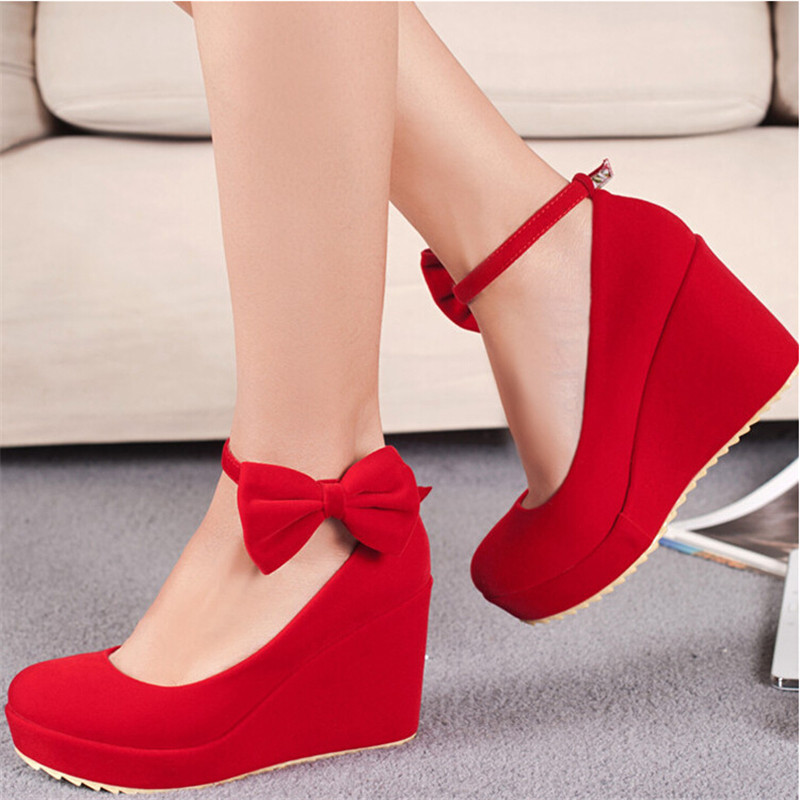 Red Shoes Wedges Promotion-Shop for Promotional Red Shoes Wedges ...