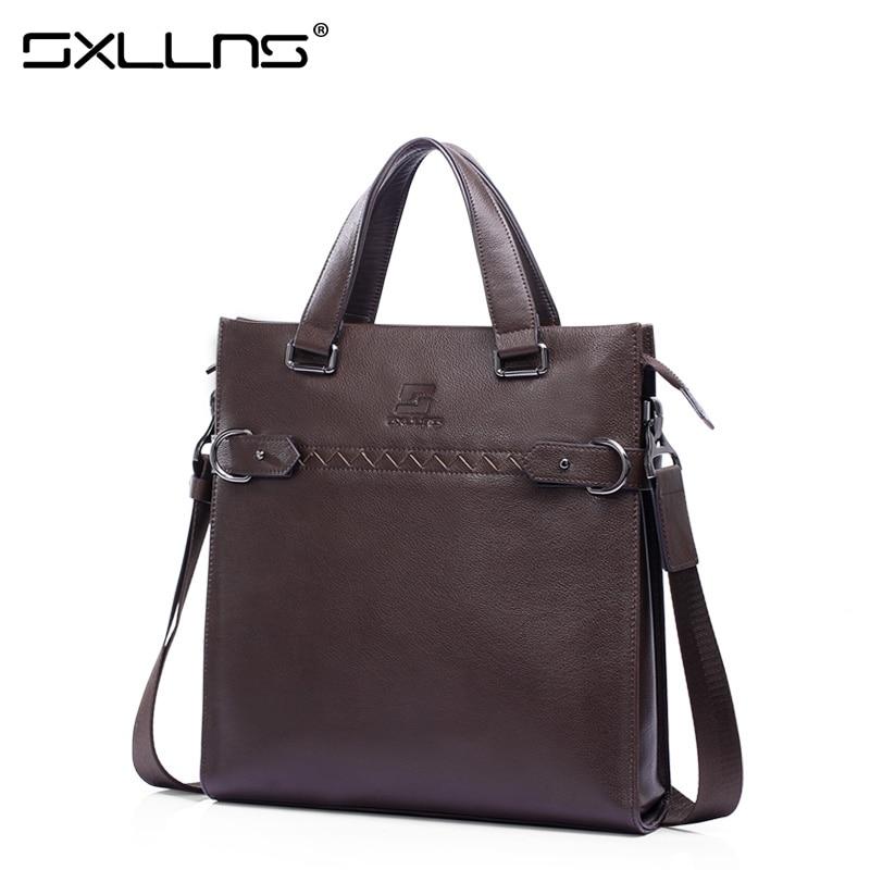 Brand Handbag New Men Shoulder Bags Leather Tote Bag Sxllns Briefcase Business Casual Crossbody Bag Men's Messenger Bag