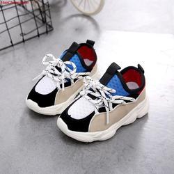 HaoChengJiaDe новая детская обувь для девочек мальчиков кроссовки Детские воздушные сетчатый, дышащий, спортивный обувь для малышей уличные