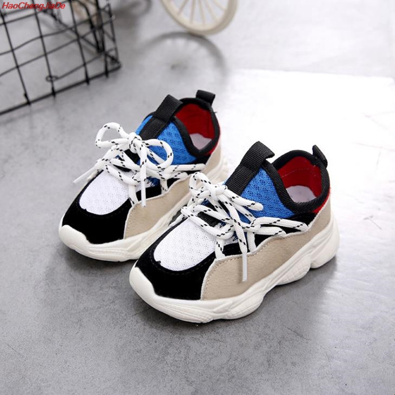 HaoChengJiaDe New Children Shoes For Girls Boys Sneakers Kids Air Mesh Breathable Sport Shoe Baby Toddler Outdoor Sneakers 21-30