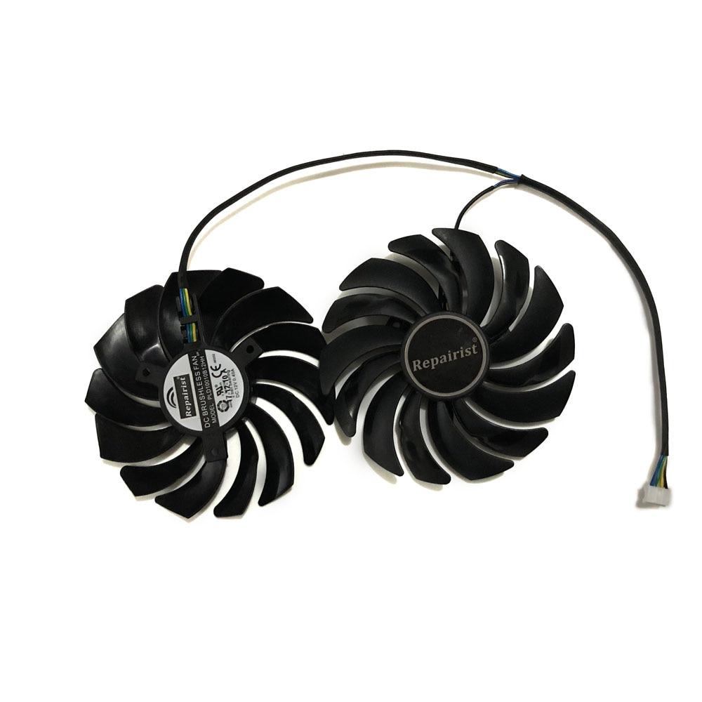 2 unids/lote ventiladores RX580 RX480 tarjeta de Video ventilador para Radeon RX 480 MSI RX 580 asic bitcoin mina GPU tarjeta gráfica refrigeración