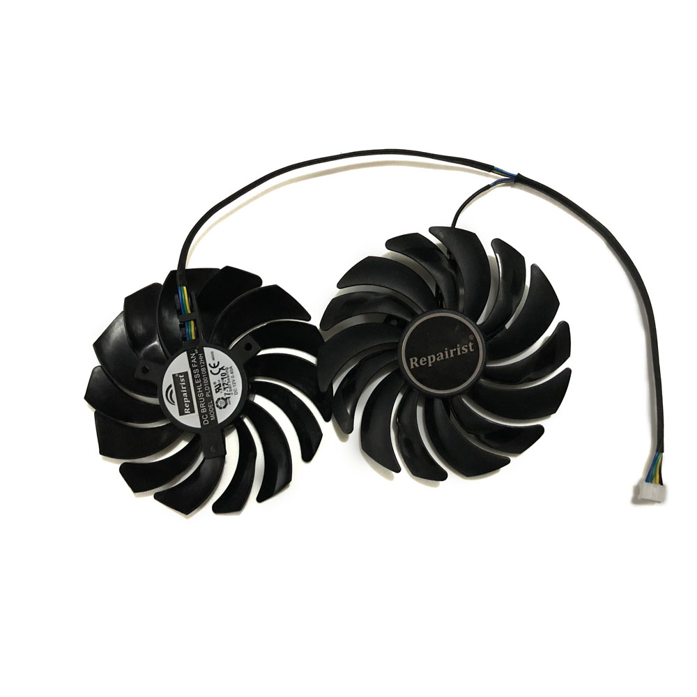 2pcs/lot cooler Fans RX580 RX480 Video Card cooling fan For Radeon RX 480 MSI RX 580 asic bitcoin mine GPU Graphics Card Cooling t129215su gpu vga cooler video card fan for radeon sapphire rx570 rx 570 rx470d 4g d5 itx graphics card cooling as replacement