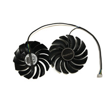 2pcs/lot cooler Fans RX580 RX480 Video Card cooling fan For Radeon RX 480 MSI RX 580 Gaming X+ 8G GPU Graphics Card Cooling