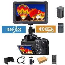 Lilliput 4 k 7 polegada ips tela 1920*1200 hdmi monitor completo da câmera hd para fotografar vídeo tft monitor de campo com bateria