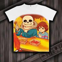 Jeu sous-conte Sans et Papyrus squelette frère unisexe hauts T-shirt blanc