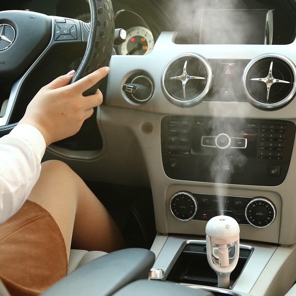 12 V Oto Taşınabilir Mini Araba Nemlendirici Hava Temizleyici Kokuları Aroma Buhar Aromaterapi Nemlendirme Ile Araç için Difüzörler Au 08