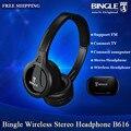 Bingle radio fm auriculares inalámbricos b616 tv multifunción del auricular estéreo de auriculares inalámbricos fm micrófono pc tv teléfono auricular