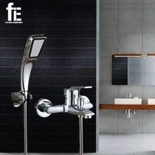 FiE Wand Befestigter Bad Wasserhahn Badewanne Mischbatterie Mit Hand Duschkopf Dusche Wasserhahn