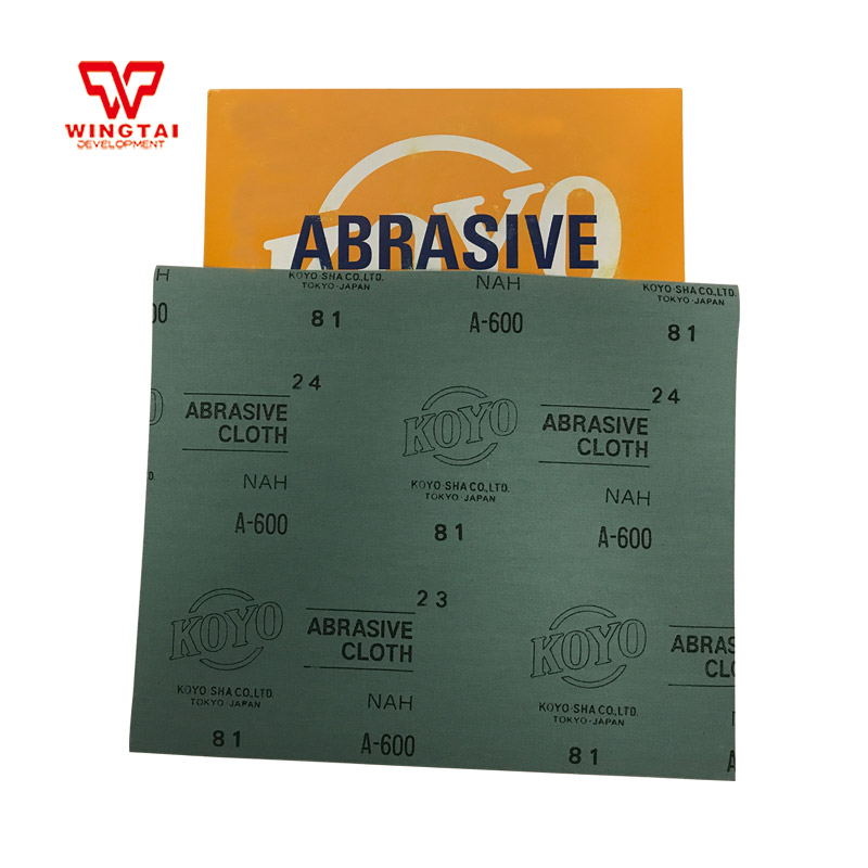 50 Pcs/lot GuangYang Japan KOYO Double Sides Aluminum Oxide Abrasive Cloth Sheet 600# Grit