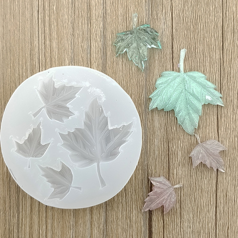 купить Maple Leaf DIY Silicone Mold Craft Mould Resin Necklace Jewelry Pendant Making t42 онлайн