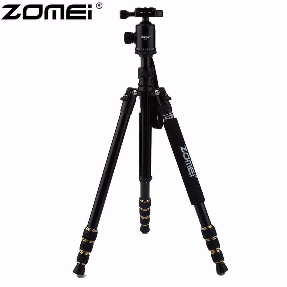 ZOMEI Z668 Professional Portable Camera Tripod Stand Monopod For DSLR Camera Digital Camera With Ball Head