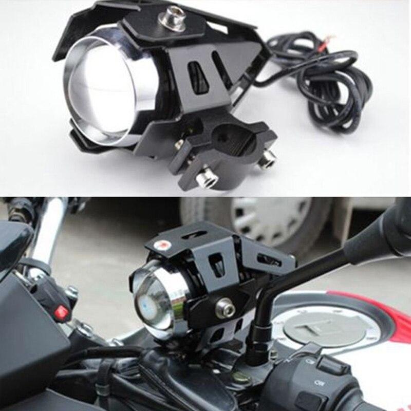 IKVVT 2pcs Motorcycle Motorbike U5 LED Headlight Fog Driving Spot Light Lamp White 100% original projector lamp 28 300 u2 210 bulb for u5 201 u5 111 u5 112 u5 132 u5 200 u5 232