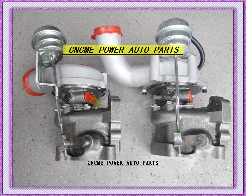 K03 53039880016+53039880017 Twin Turbos Turbocharger For AUDI S4 97-01 A6 99-01 AJK ARE AZB AGB V6 2.7L 265HP (2)