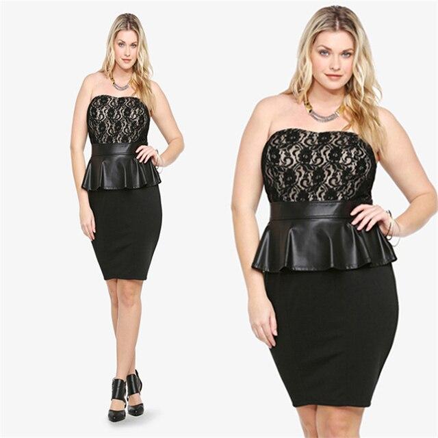 Dream Vine Cheap Sexy Plus Size Dress Xxxl Women Lace Peplum Dresses