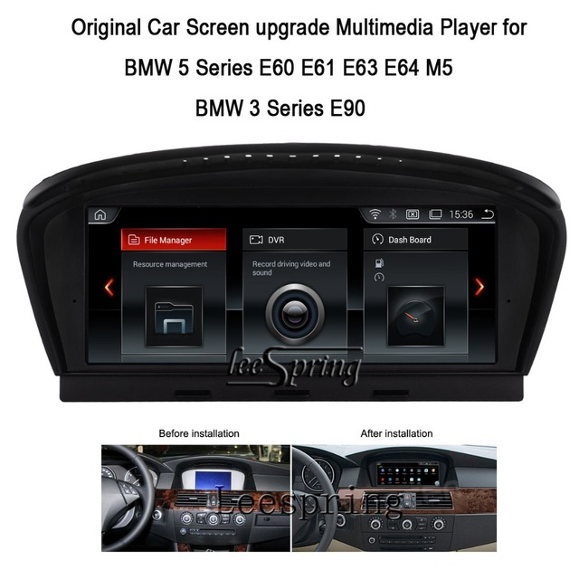 US $525 0 |8 8 inch Original Car Screen Upgrade Multimedia Player for BMW 5  Series E60 E61 E63 E64 M5 BMW 3 Series E90-in Car Multimedia Player from