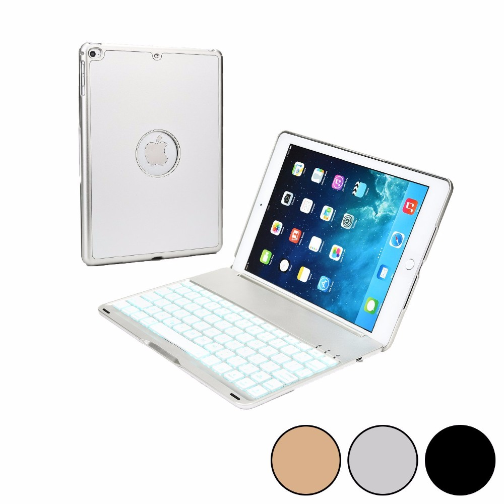 Summer 2016 Wireless Keyboard with USB Micro Silver Bluetooth for Apple Cover iPad Air 2 Case