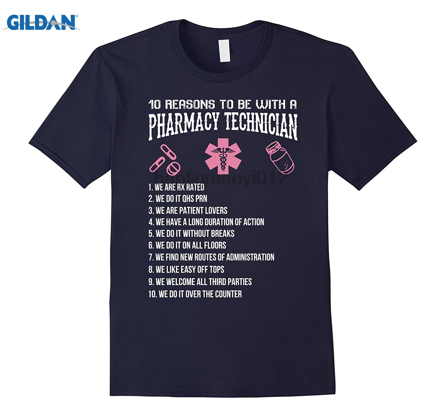 GILDAN 10 Reasons To Be With A Pharmacy Technician Shirt sunglasses women T-shirt