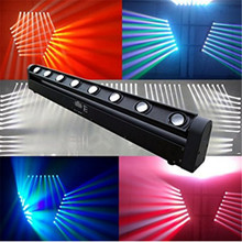 LED Bar Beam Moving Head Light RGBW with DMX512 10/38 channels DJ Club Spot Stage Lighting 8x12W