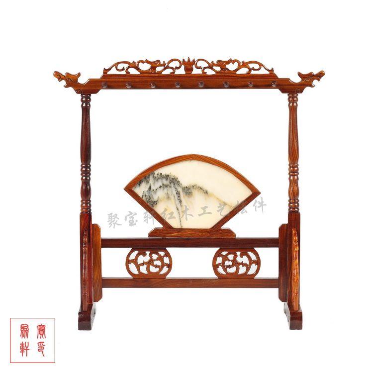 Artisanat en bois rouge meubles miniatures antiques de style chinois articles d'ameublement