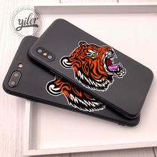 hot deal buy fashion tiger black cat cover for iphone xs max case for iphone xr case for iphone 7 plus case se 5 se 6s 7 8 plus x phone cases