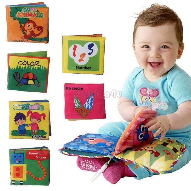 천 책 Livros Em Portugues 6pcs 지능 개발 부드러운 패브릭 아기를위한 조용한 책 교육 장난감을 인식합니다 유아