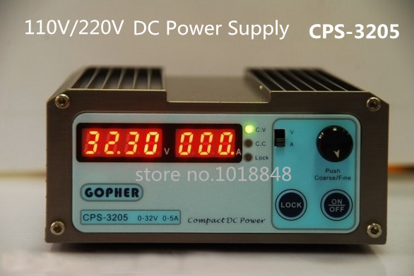 CPS-3205 Wholesale precision Compact Digital Adjustable DC Power Supply OVP/OCP/OTP low power 32V5A 110V-230V 0.01V/0.01A DHL cps 6011 60v 11a precision pfc compact digital adjustable dc power supply laboratory power supply