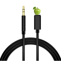 10pcs For Lightning to 3.5mm Audio Cable Car AUX For iPhone 7 8 X XR Adapter Audio Transfer Male to Male AUX Cable 1M Headphone