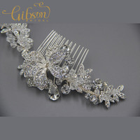 3 Pcs Lot Free Shipping Elegant Rhinstone Bridal Hair Comb Hair Bride Accessories Crystal