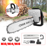 Doersupp 11.5 Inch M10/M14/M16 Chainsaw Bracket Electric chain saw converter universal 100/125/150 angle grinder electric chain