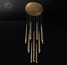 NEW RH ROUND CHANDELIER Deco Led Chandelier Lustre Indoor Lighting French minimalist lighting Luxury American G4 led lighting(China)