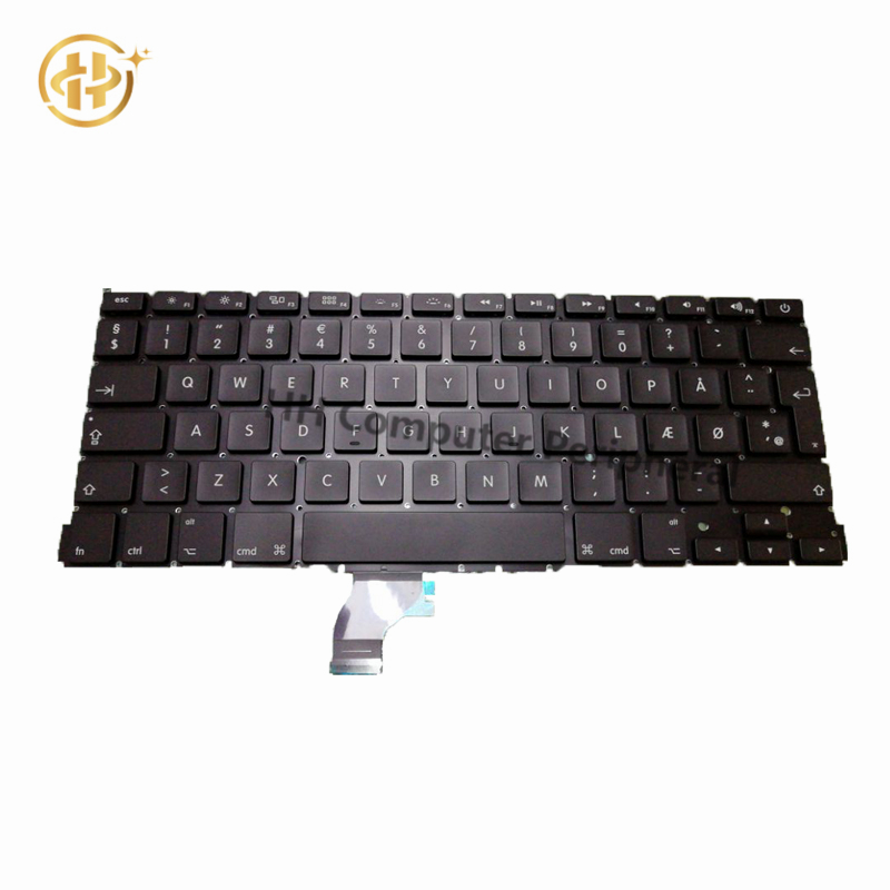 Brand New A1502 Laptop keyboard For Apple MacBook Pro Retina 13.3 A1502 Danish Denmark keyboard 2013 2014 2015 Years image