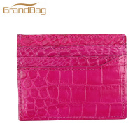 Super Quality Luxury Genuine Real Croco Alligator Leather Business Card Holder Crocodile Leather Card Case