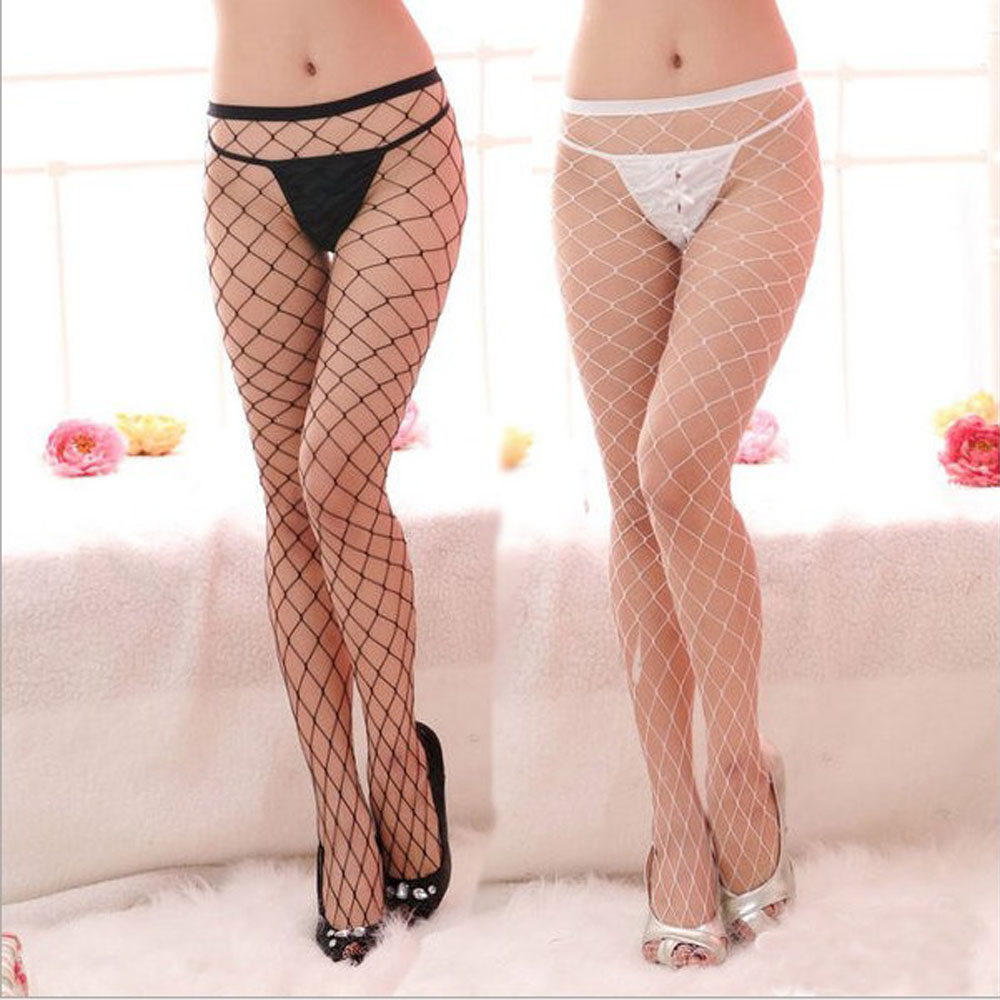 New Fashion Sexy Lingerie Sexy Women Big Mesh Fishnet Net Pattern Pantyhose Stockings Tights Women Products Sexy Underwear