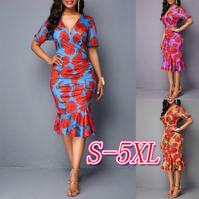 African Women Clothing Dashiki Fashion Dress Succunct 2019 African Tranditional Print Dashiki Dress For Women
