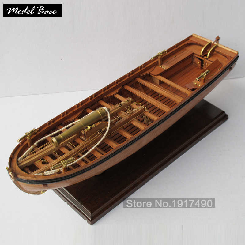 Wooden Ship Models Kits Scale 1/36 Train Hobby Model-Wood-Boats 3d Laser Cut Model-Ship-Assembly Diy Full Rib Armed Boat