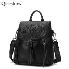 100% натуральная кожа рюкзак модные женские туфли сумки элегантный дизайн кисточки рюкзак для девочек школьные сумки молния Kanken кожаный рюкзак