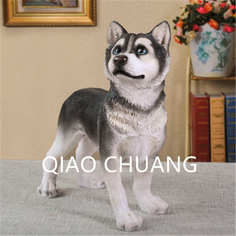 Simulation Hound Group  Static Model Siberian Husky Sled Dog Colophony Crafts Home Furnishing Articles G919Simulation Hound Group  Static Model Siberian Husky Sled Dog Colophony Crafts Home Furnishing Articles G919