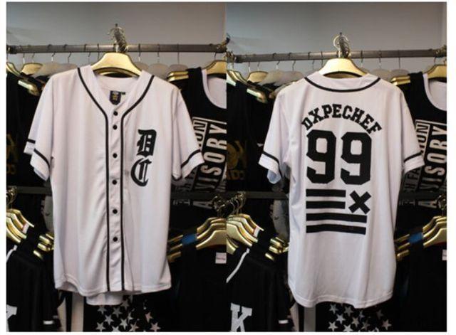 f1f8ea4a563 Summer style 2015 rock hip hop t shirt men v neck baseball jersey t-shirt